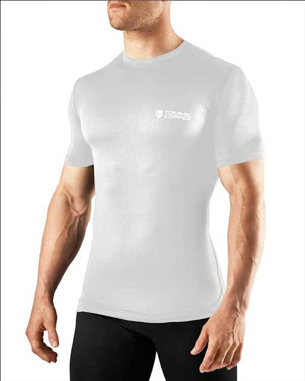 Tommie copper men 39 s compression short sleeve shirt for Compression tee shirts for men