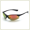 Crossfire Cobra red mirror lens, matte black frame