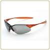 Crossfire Cobra with a silver mirror lens and a shiny black & crystal burnt orange frame