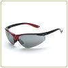 Crossfire Brigade, silver mirror lens, shiny black/ red frame