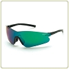 Crossfire Blade emerald mirror lens, black temple