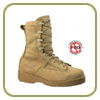 Belleville Hot Weather Tan Safety Toe Flight Boot
