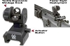 GG&G Re-Designed Spring Actuated A2 Back Up Iron Sight (BUIS)