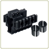 Leapers Model 4/15 Tri-rail Barrel Mount - Fits 3 Barrel Sizes