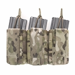 WARRIOR ASSAULT SYSTEMS TRIPLE OPEN 5.56MM & 9MM MAG POUCH