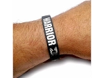 Warrior Silicone Wrist Band Black
