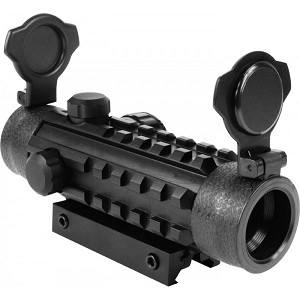 Aim Sports 1X25 DUAL-ILLUMINATED REFLEX SIGHT w/ 3 INTEGRAL WEAVER RAILS